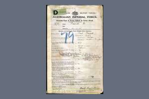 Service Papers - Attestation Page - for Private Basil Guy Fawcett