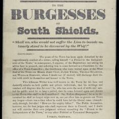 Notice to the Burgesses of South Shields