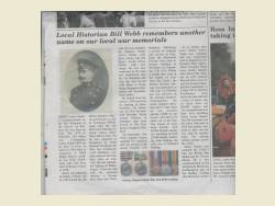 WW1 NapierHL news article
