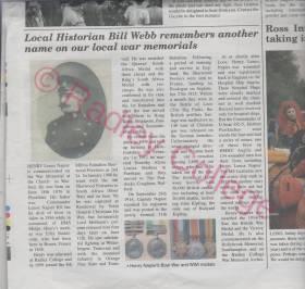 WW1 NapierHL news article