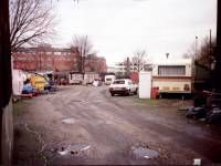 Bond Road, Mitcham: flats and a scrapyard