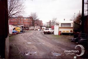 Bond Road, Mitcham: flats and a scrapyard