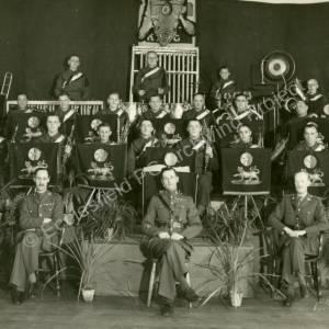Grenoside Bandsman Ernest Crookes in Hallamshire Battalion Yorks & Lancs Band 1939.