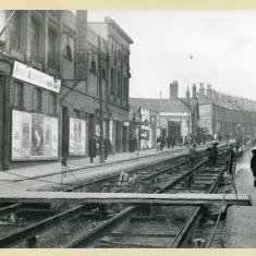 Laying Tramway Track in Mile End Road