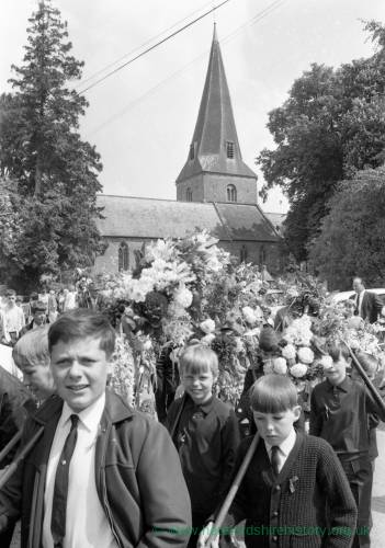 Boys Taking Part in the Fownhope Flower Walk, 1969