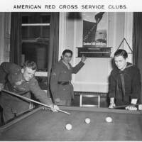A game of Billards at an American Red Cross Service Club