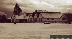Mitcham Golf Club in the snow
