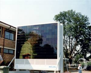 All England Lawn Tennis Club, Wimbledon: Screen at the rear of the picnic area