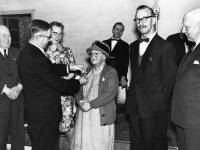 Miss Margaret Ware presented with 40 yearlong service savings medal