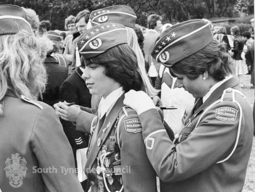 Norwegian visitors to Flower Show 1978