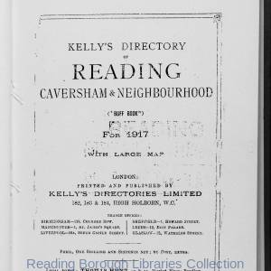 Kelly's Directory of Reading 1917