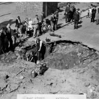 East Street, Waterloo, crater, Oct 1940