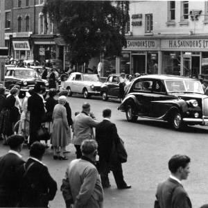 Royal car driving past Austin House (H. A. Sanders Ltd)