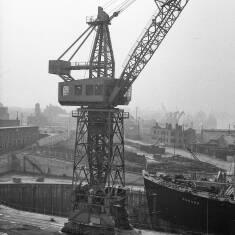 A Crane at Brigham and Cowan's Shipyard, South Shields