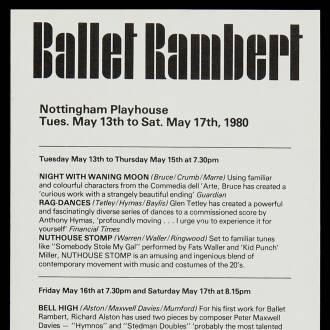 Nottingham Playhouse, May 1980