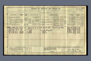 1911 Census for 80 Dupont Road, Raynes Park