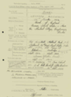 RMC Form 18A Personal Detail Sheets Aug 1935 Intake - page 118