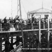 Professor Osbourne Dives from Southport Pier,c1905