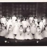 Photograph - Jack Milroy with group of performers