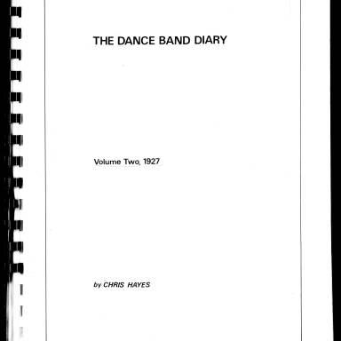 Dance Band Diaries Volume 2 1927