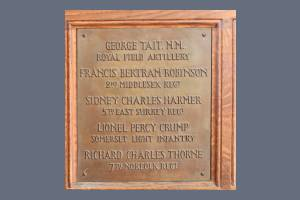 Memorial Plaque - Tait, Robinson, Harmer, Crump & Thorne