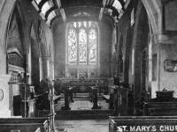 St. Mary's Parish Church, Merton:  Interior