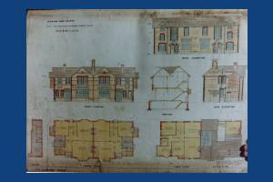 Dorset Road, Merton Park: Plans for new semi-detached houses