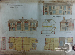 Dorset Road, Merton Park: Plans for new semi-detached houses
