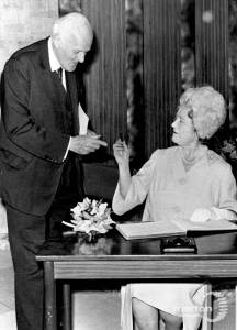 Sir Cyril Black with Her Majesty Queen Elizabeth the Queen Mother