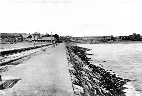 Pier looking towards shore
