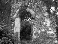 Hall House, Norman archway, Mitcham:  Hall demolished 1949
