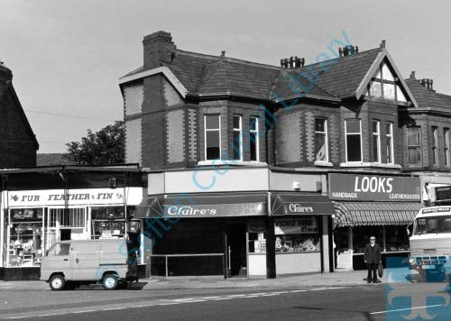 A row of shops on Crosby Road North