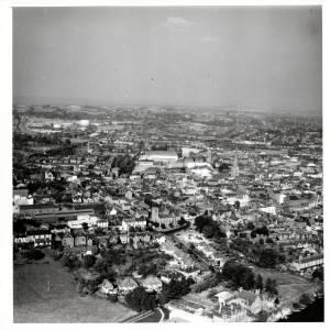 Greyfriars, Hereford, aerial view, 1959