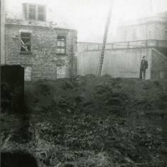 World War II bomb damage to St Hilda's graveyard