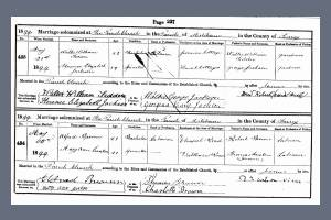 Marriage Certificate - Walter Tedder
