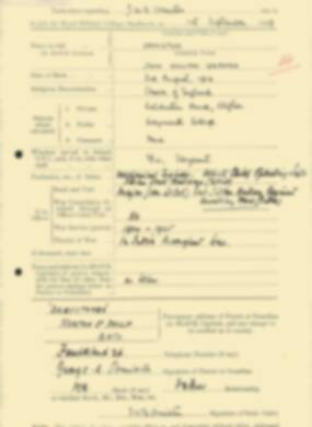 RMC Form 18A Personal Detail Sheets Feb & Sept 1933 Intake - page 259