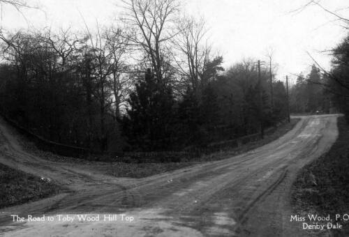 010 Barnsley Road, with road to Toby Wood on left & Catch Bar ahead