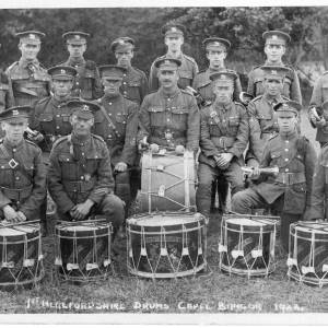1st Herefordshire drums, Capel Bangor, 1922