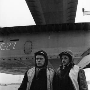 087 - Portrait of two workers at Severn Bridge
