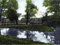 The Wandle, at Phipps Bridge, Mitcham