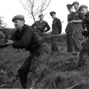 SAS troops on exercise.
