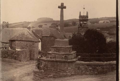Stone cross, c1900, South Zeal