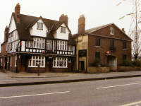 The  Crown Inn and Mitcham Railway Station, London Road, Mitcham