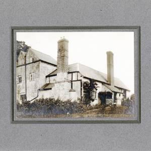 Aylton Court Farm back view of house, 1910