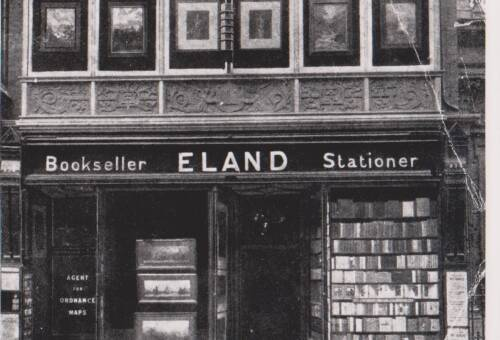 Eland, Bookseller, Stationer, photograph, c1910, Exeter