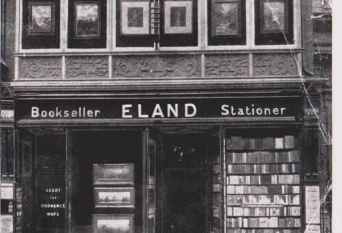 Eland, Bookseller, Stationer, photograph, c1910, Exeter