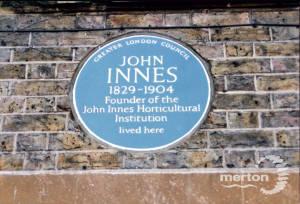 John Innes Park, Merton Park: GLC Blue Plaque