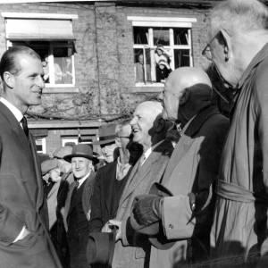 Prince Phillip greets locals