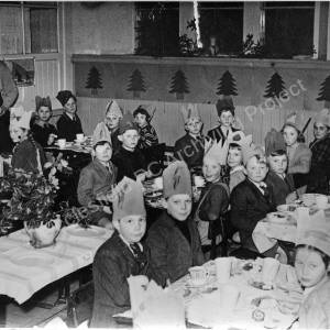 Grenoside Junior School, Mrs. Kitson's class Christmas Party early 1950's.