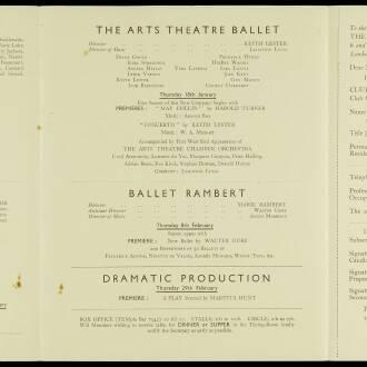 Arts Theatre Club, London, February 1940